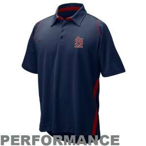 Nike St Louis Cardinals Navy Blue Dri FIT Performance Polo