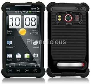 TRIPLE LAYER COMBO HYBRID IMPACT HARD CASE PHONE COVER SKIN HTC EVO 4G