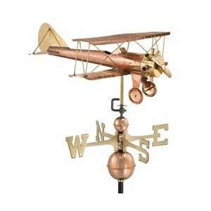 Good Directions Standard Size Weathervanes Biplane Polished Copper