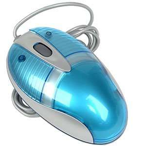 3 Button PS/2 High Quality Optical Scroll Mouse (Blue