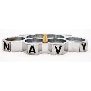 NAVY Brass Knuckles   Chrome