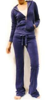 NWT Juicy Couture Crystal J Charm Full Bloom Velour Hoodie Pants