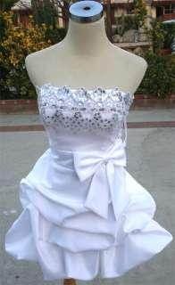 NWT MASQUERADE $100 White Cocktail Evening Prom Dress 3