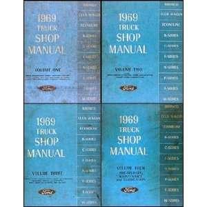Ford Truck Repair Shop Manual Set Pickup Bronco Van and big trucks