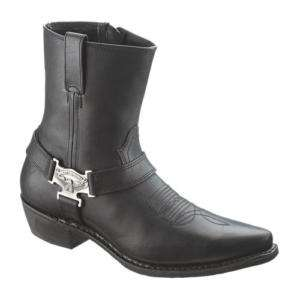 harley davidson kids boots youth 1 m black with logo patches. Black Bedroom Furniture Sets. Home Design Ideas