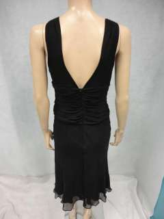 Banana Republic Black Crinkly Silk Cocktail Party Dress 6 S Small