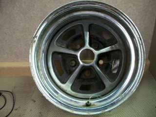 68 FORD MUSTANG WHEEL STYLED STEEL BLACK PAINT