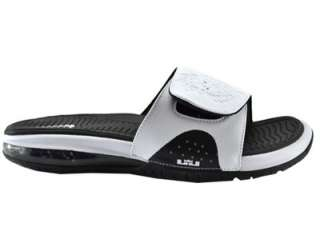 Nike Air Lebron Slide White/White Black Flip Flops Sandals 487332 100