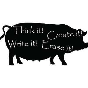 Chalkboard Pig  Large  Vinyl Wall Decal