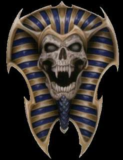 Aufkleber Skull of Tut Totenkopf Schädel Ägypten Decal Airbrush Helm