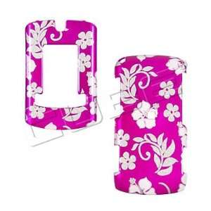 Motorola Adventure v750   Glitter Flowers on Hot Pink   Hard Case