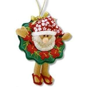 Hawaiian Christmas Ornament Santas Wreath Mele