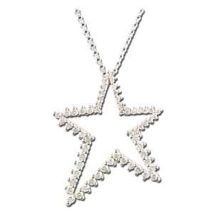 White Gold Diamond Star Necklace (SI2 I1 clarity, G I color) Jewelry