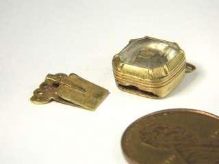 ANTIQUE ENGLISH 22K GOLD STUART CRYSTAL MOURNING NECKLACE CLASP c1720