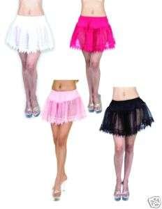 pink TEARDROP LACE PETTICOAT sexy crinoline costume OS
