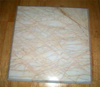 WHITE MARBLE TABLE TOP 18 X 18 BISTRO PATIO COFFEE PLANT GOLDEN SPIDER