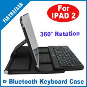 Wireless Bluetooth Keyboard Rotate Case Cover 4 iPad 2