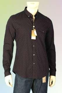 NEW GUCCI LOGO POLKA DOTS FABULOUS COTTON DRESS SHIRT 43/17