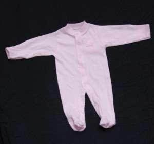 UGA Georgia Bulldogs Infant Pink Footed Romper