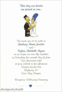 The Simpsons Wedding Invitations Supplies Favors Homer