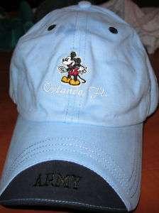 US ARMY MICKEY MOUSE ORLANDO FL. BASEBALL CAP HAT NEW