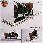Harley Davidson WLA Alloy Diecast Model Motor With Box Black&Red B492