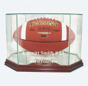 Emmitt Smith Dallas Cowboys F/S Football Display Case
