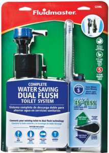 FLUIDMASTER SAVING DUAL FLUSH CONVERSION Kit Toilet