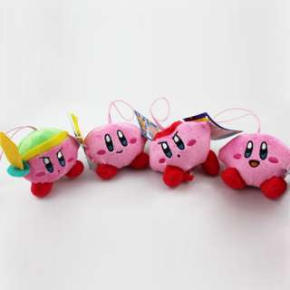 Nintendo Game Kirby Soft Plush Stuffed Toy 4pc PK
