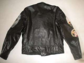 Genuine Leather EXCELLED Motorcycle/Biker Jacket UNIQUE Goth/Twilight