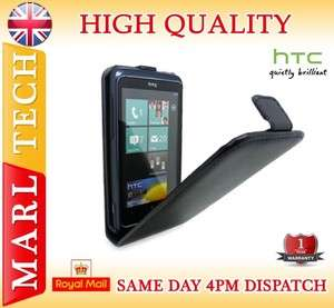 LEATHER FLIP CASE COVER POUCH FOR HTC 7 TROPHY WINDOWS MOBILE PHONE