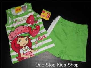 SHORTCAKE Toddler Girls 24 Mo 2T 3T 4T Set OUTFIT Shirt Shorts Capris