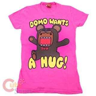 Domo Kun Girls/Women T Shirt  Domo Wants a Hug Pink (4 Size)