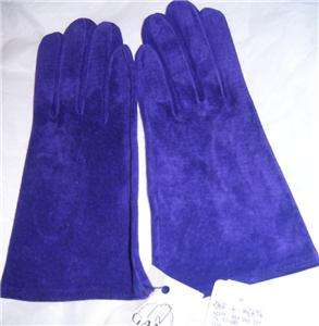 Ladies Small Purple Cashmere Leather Gloves MSRP $64
