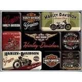 Magnet Set Harley Davidson Bikes