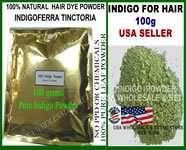 200g Natural INDIGO POWDER FOR Hair Color Black NO PPD