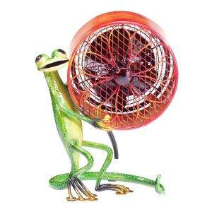 Deco Breeze 7 In. Figurine Fan  Gecko Small DBF0256