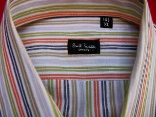 authentic PAUL SMITH multi color striped SHIRT XL 41/16.5 m905