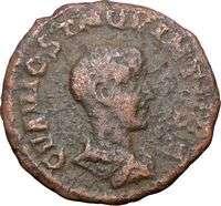 HOSTILIAN VIMINACIUM 251AD Authentic Ancient Roman Coin LEGIONS BULL