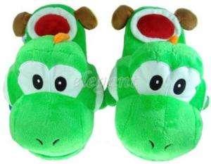 Nintendo Super Mario Bros Grün Yoshi Plüsch Pantoffeln
