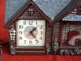 Haddon House Clock Grandma Rocking Chair Home Sweet Vtg Table Lights