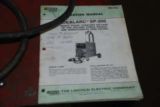 VERY NICE LINCOLN IDEALARC SP 200 MIG WELDER, SINGLE PHASE 460v INV