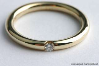 Spannring Brillantring Diamant Ring Gold Solitär