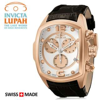 Invicta Mens Lupah Revolution 6737 Rose Gold Plated Chronograph Watch