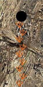 Duck camo hunting Cornhole game decal wrap