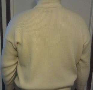 Mens GianFranco Ferre 100% thick Cashmere sweater size 44 Italy XL US