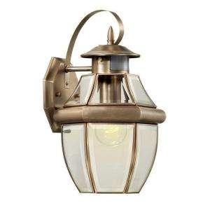 Hampton Bay Brushed Nickel 1 Light Motion Sensing Outdoor Lantern