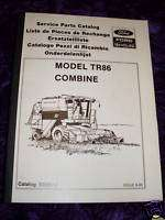 New Holland TR86 Combine Parts Manual