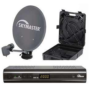 SKYMASTER Digitale Camping Sat Anlage mit DXH 30 HDTV Receiver