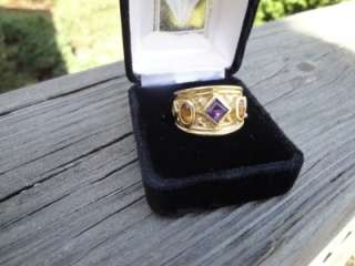 EGYPTIAN REVIVAL /ETRUSCAN LADIES 18KT SOLID GOLD RING